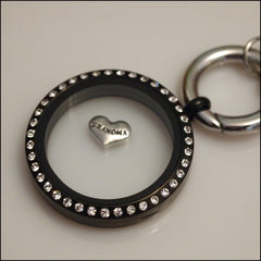 Grandma Silver Heart Floating Charm - Find Something Special