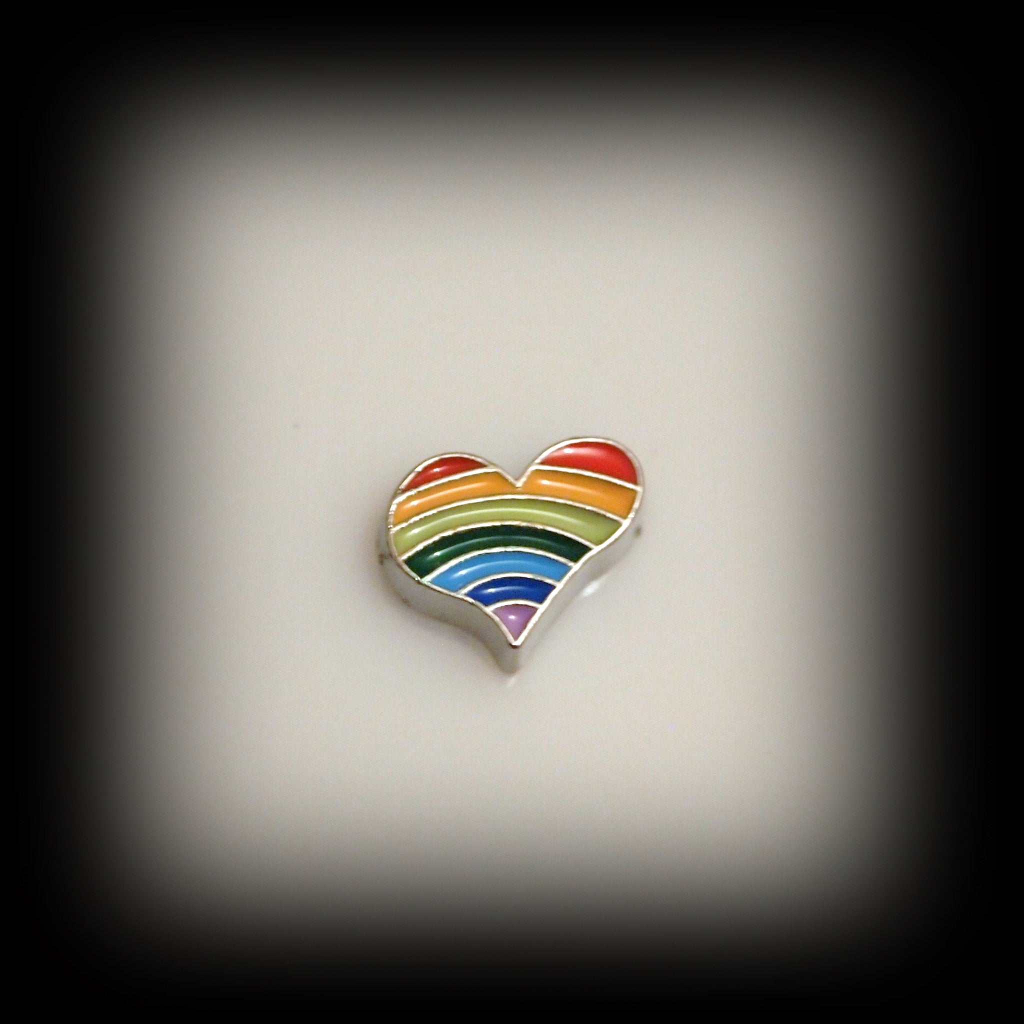 Rainbow Heart Floating Charm - Find Something Special