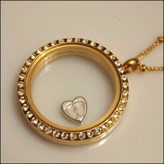 Baby Feet on Heart Floating Charm - Find Something Special