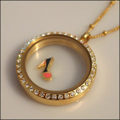 Gold Stiletto Floating Charm - Find Something Special