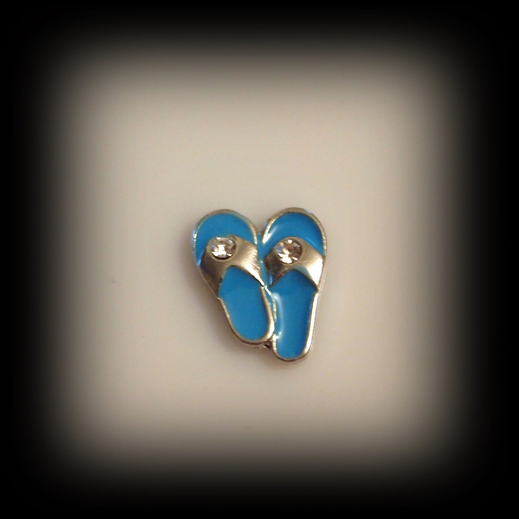 Blue Sandals Floating Charm - Find Something Special