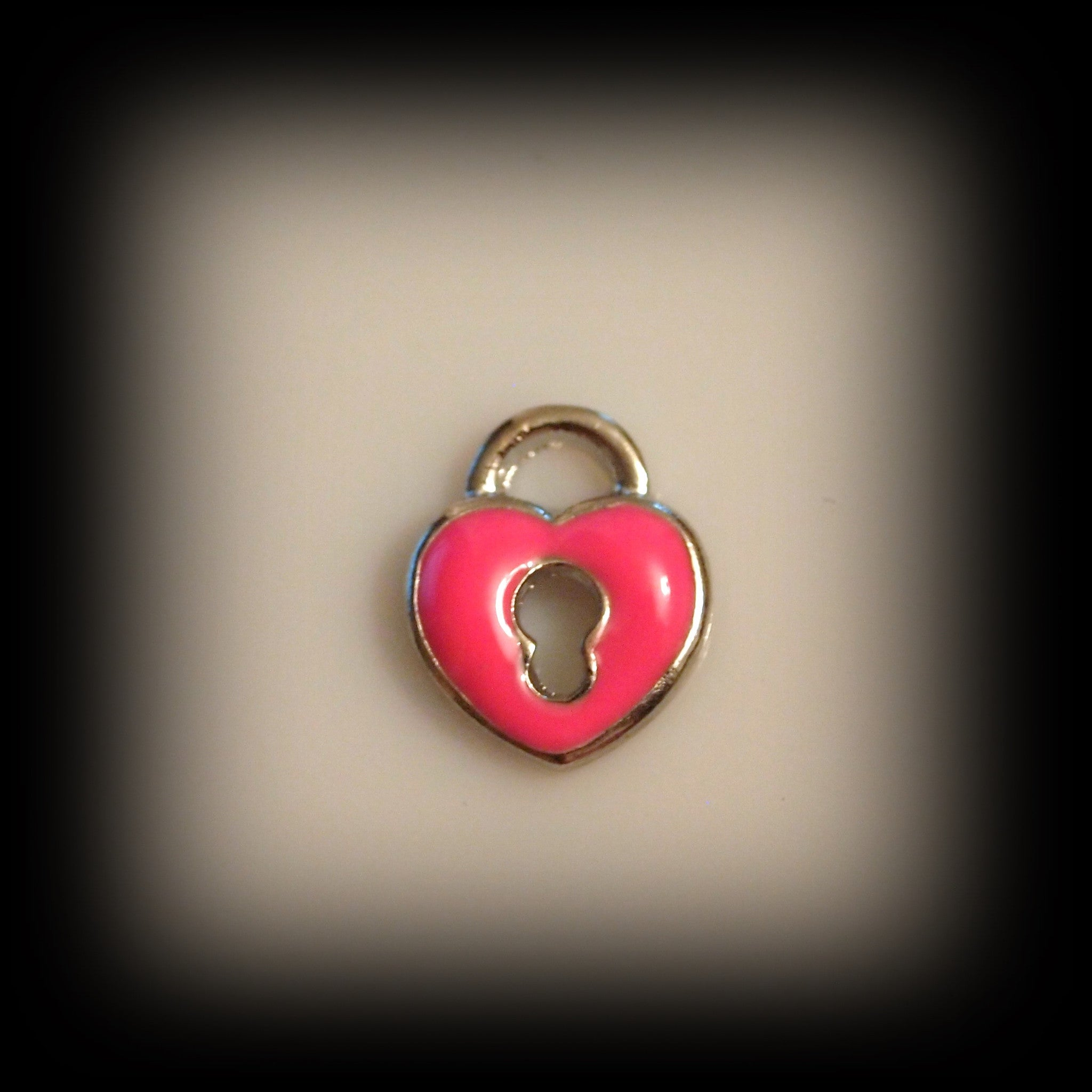 Pink Padlock Floating Charm - Find Something Special - 1