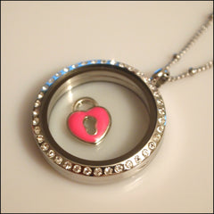 Pink Padlock Floating Charm - Find Something Special - 2