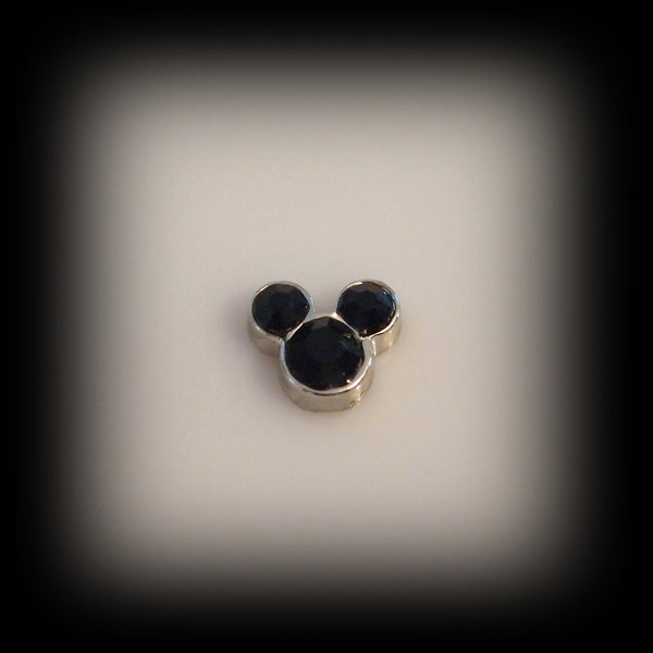 Black Mickey Floating Charm