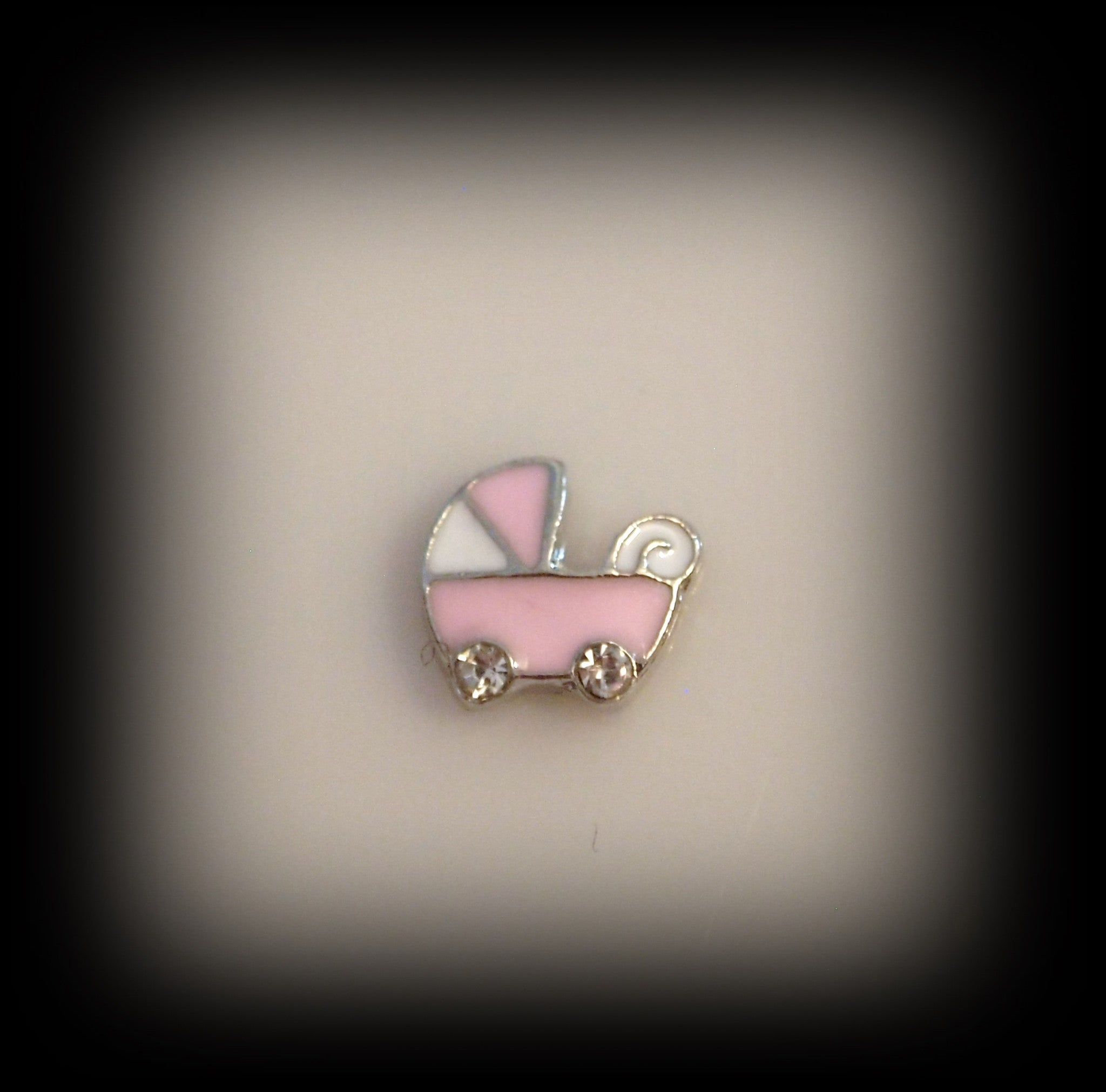 Pink Pram Floating Charm - Find Something Special