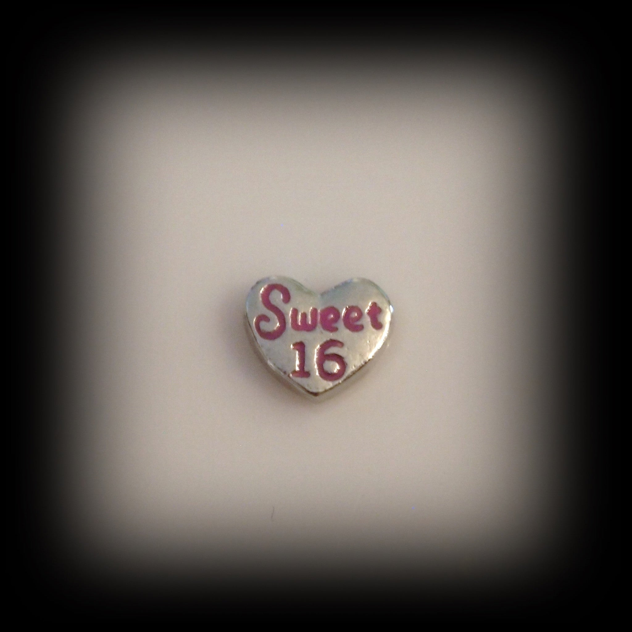 Sweet 16 Heart Floating Charm - Find Something Special
