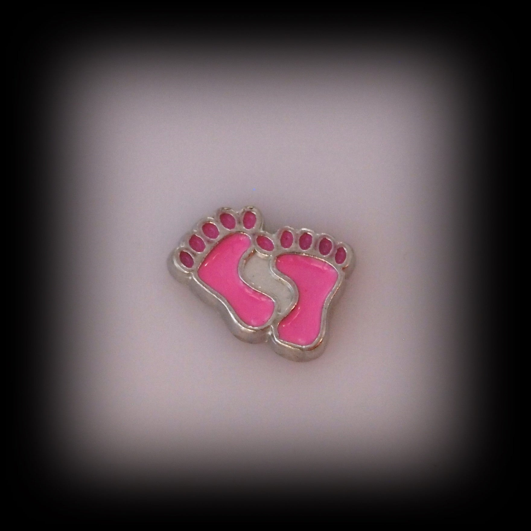 Pink Baby Feet Floating Charm - Find Something Special - 1