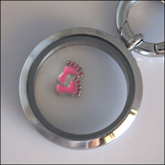 Pink Baby Feet Floating Charm - Find Something Special - 2