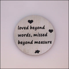 Locket Plate - Loved Beyond Words - Find Something Special