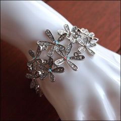 Daisy Chain Crystal Bracelet - Silver - Find Something Special