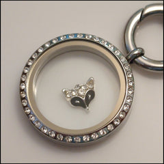 Crystal Fox Floating Charm - Find Something Special