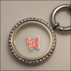 Light Pink Butterfly Floating Charm - Find Something Special - 2