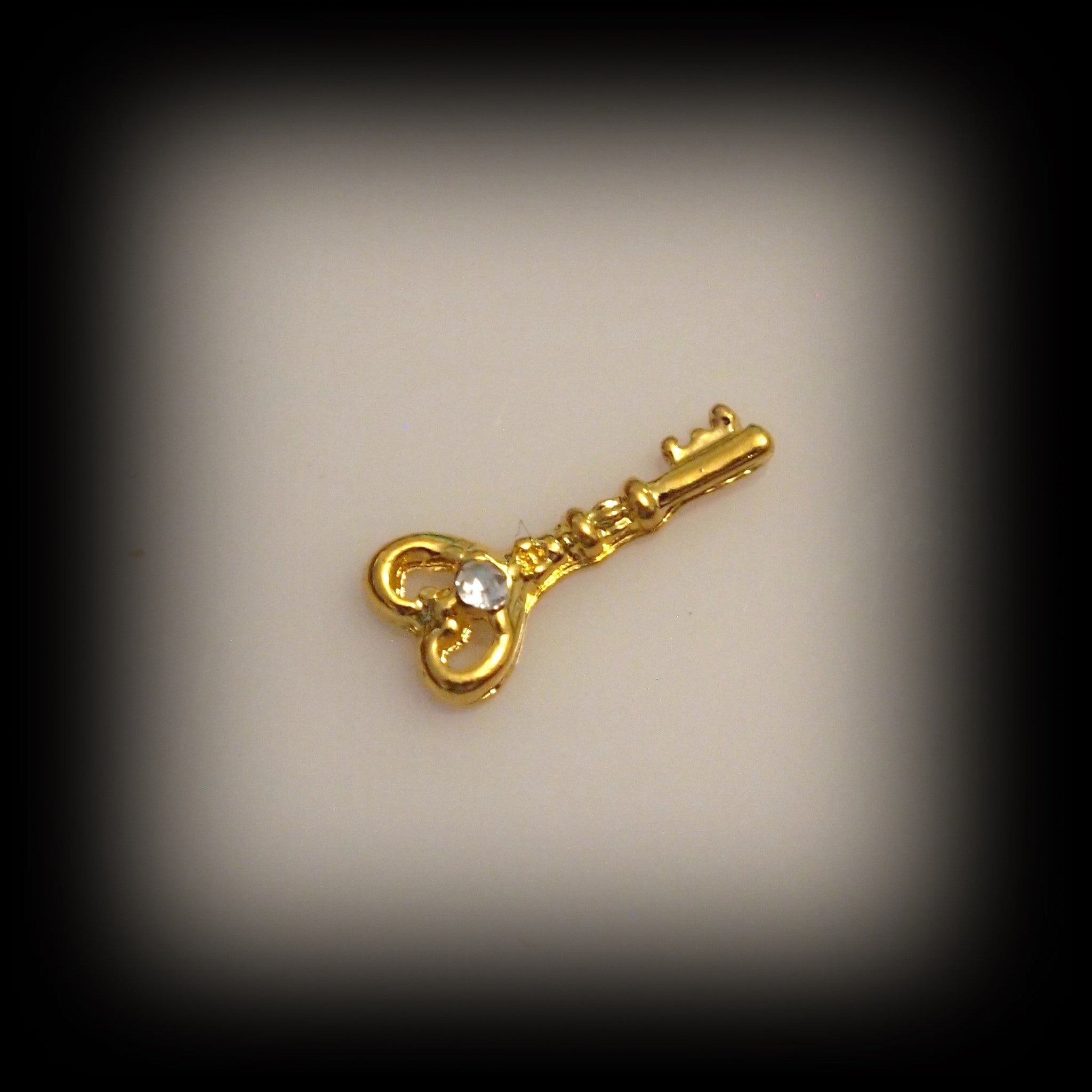 Gold Key Floating Charm - Find Something Special