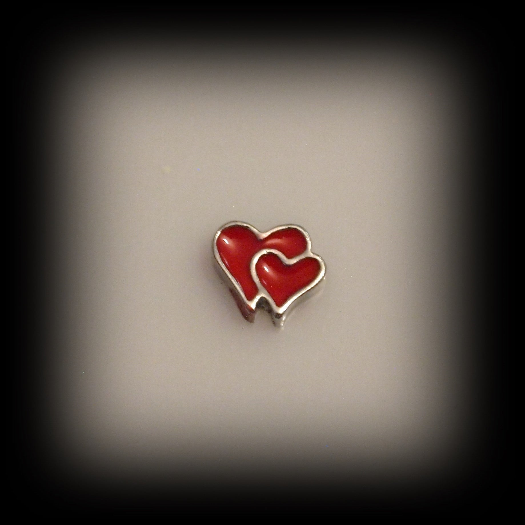 Red Double Heart Floating Charm - Find Something Special