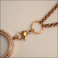 Rose Gold Rolo Chain for Living Locket - Find Something Special - 3
