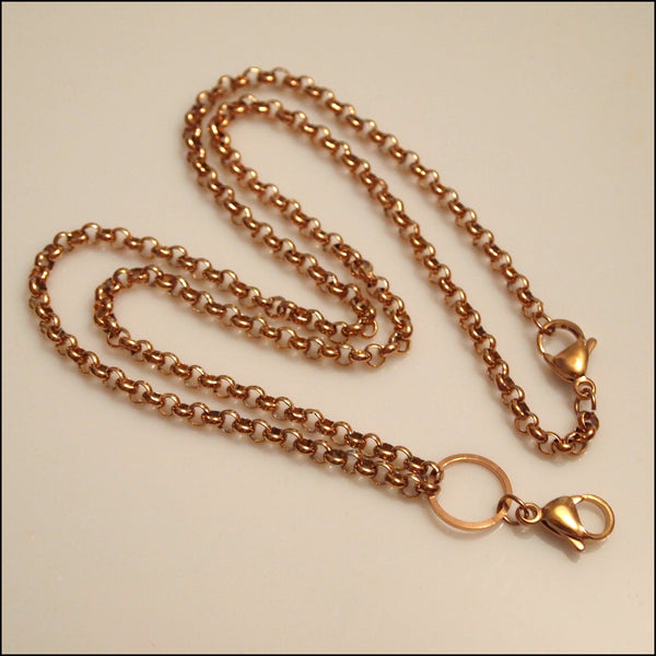 Rose Gold Rolo Chain for Living Locket
