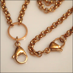 Rose Gold Rolo Chain for Living Locket - Find Something Special - 2