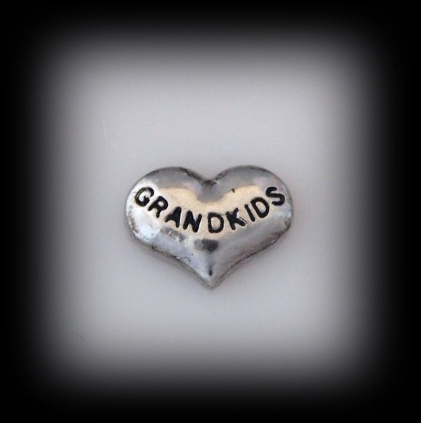 """Grandkids"" Floating Charm"
