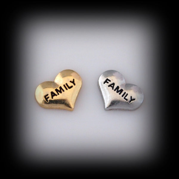 """Family"" Heart Floating Charm"