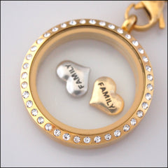 """Family"" Heart Floating Charm - Find Something Special"