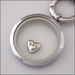 """Dad"" Floating Charm - Find Something Special"