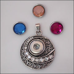 Crystal Swirl Mini Snap Pendant Set - Find Something Special