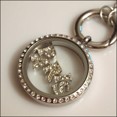 Crystal Letter Floating Charm - Find Something Special