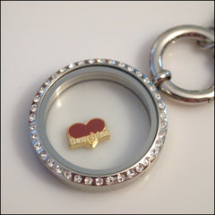Daughter on Red Heart Floating Charm - Find Something Special