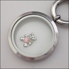 Teddy Bear Floating Charm - Find Something Special