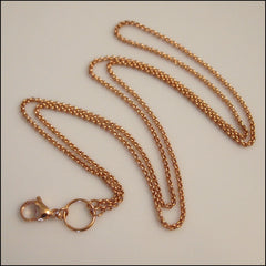 Long Overhead Rose Gold Rolo Chain for Living Locket - Find Something Special