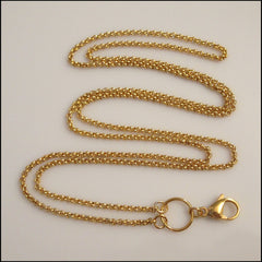 Long Overhead Gold Rolo Chain for Living Locket - Find Something Special