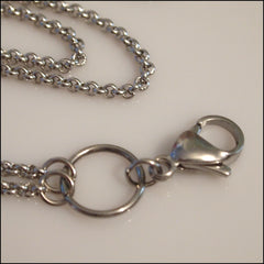Long Overhead Silver Rolo Chain for Living Locket - Find Something Special