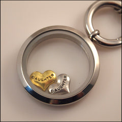 """Daughter"" Heart Floating Charm - Find Something Special"