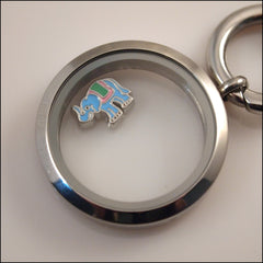 Blue Elephant Floating Charm - Find Something Special