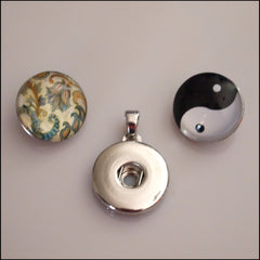 Simple Snap Pendant with 2 Snap Buttons - Find Something Special - 2