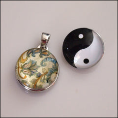 Simple Snap Pendant with 2 Snap Buttons - Find Something Special
