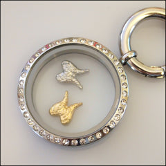 Angel Wings Floating Charm - Find Something Special