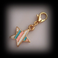 Striped Star Dangle Charm - Find Something Special