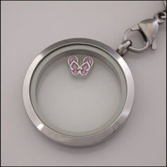 Purple Thongs Floating Charm - Find Something Special