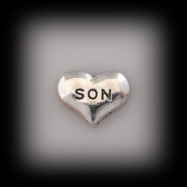 """Son"" Floating Charm"