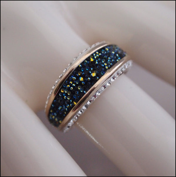 Night Sky Sterling Silver Ring