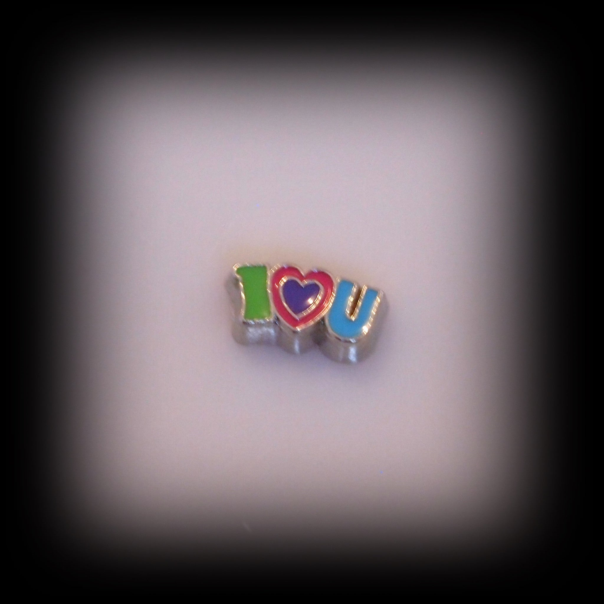 "I ""Heart"" U Colourful Floating Charm - Find Something Special"