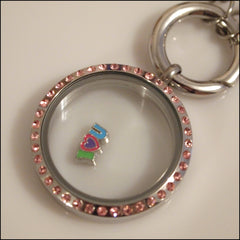 "I ""Heart"" U Colourful Floating Charm - Find Something Special - 2"