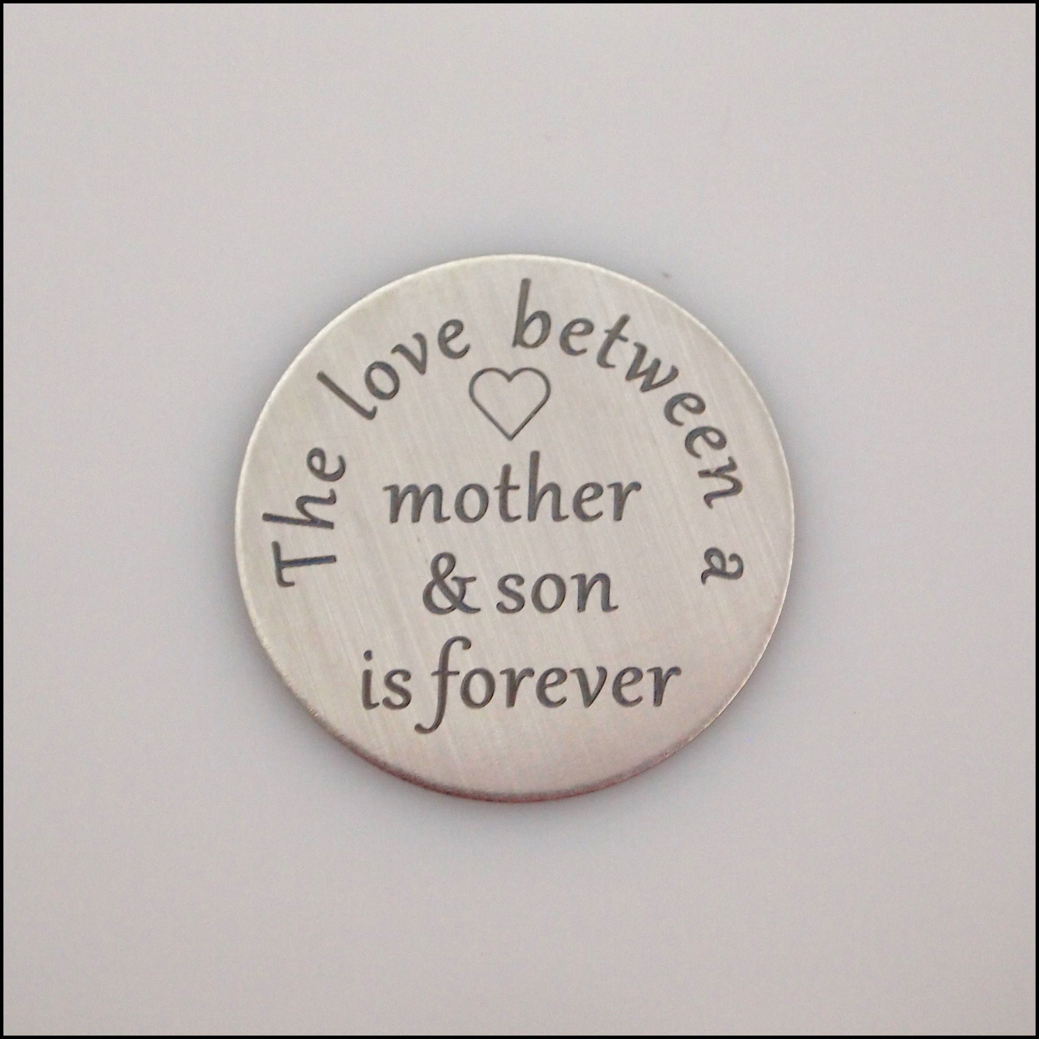 Locket Plate - Love Between Mother & Son - Find Something Special
