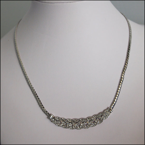 Crystal Plaited Necklace