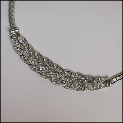 Crystal Plaited Necklace - Find Something Special
