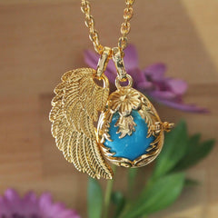 Large Angel Wing Pendant - Find Something Special