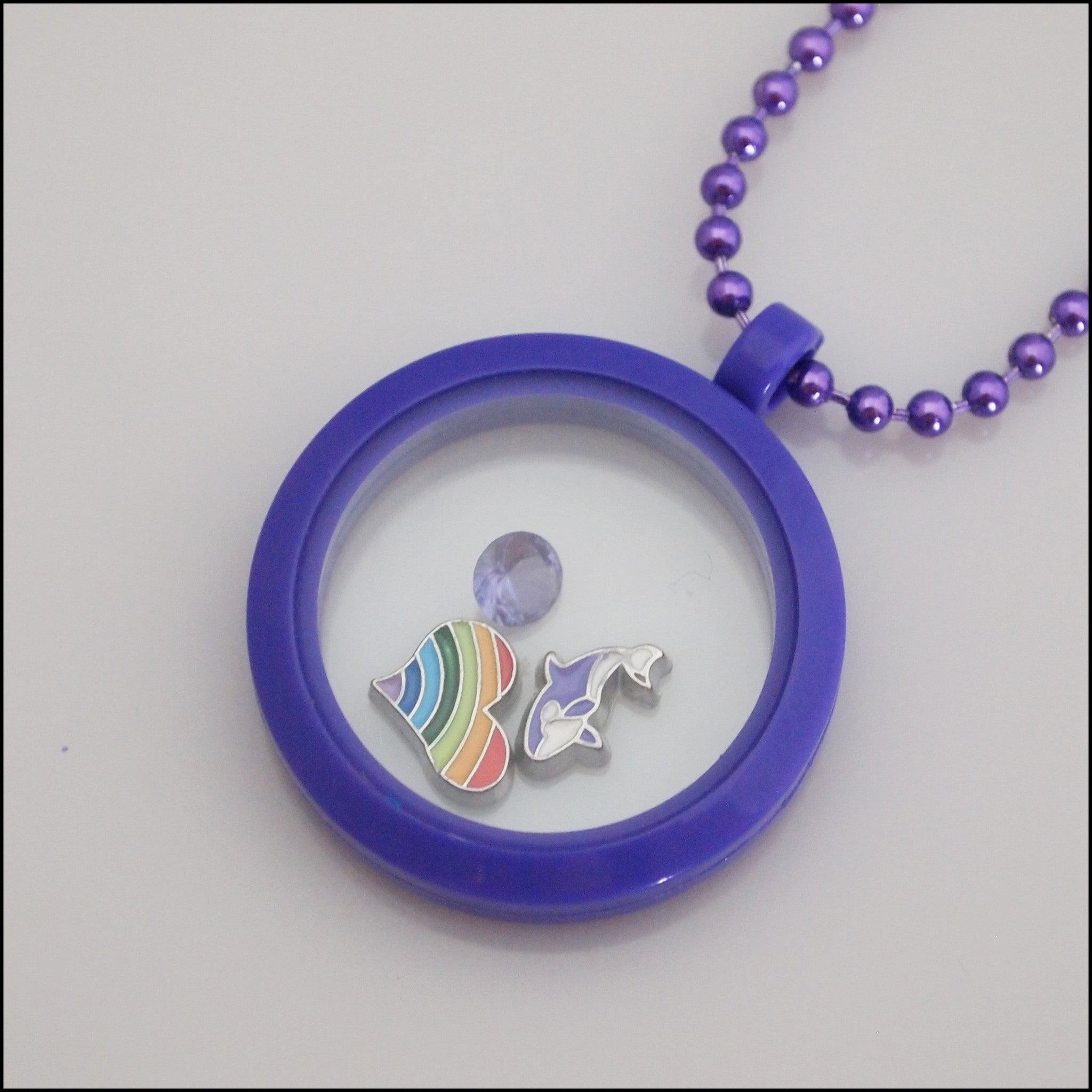 Acrylic Magnetic Living Locket - Purple - Find Something Special