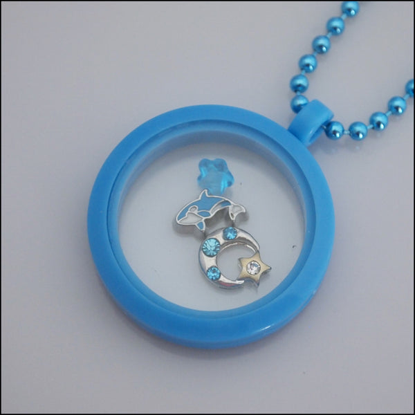 Acrylic Magnetic Living Locket - Blue