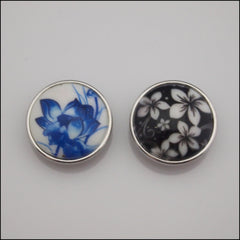 Floral Print Snap Button - Find Something Special